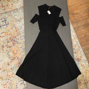 Black cutout Maje knit dress